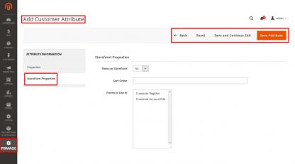 Add Customer Attribute Storefront